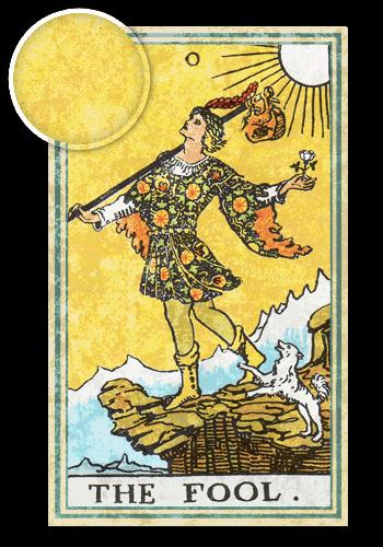 Таро Шут, Желтый цвет