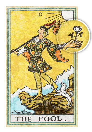 Таро Шут, Белая роза