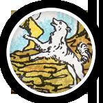 Таро Шут, Белая собачка