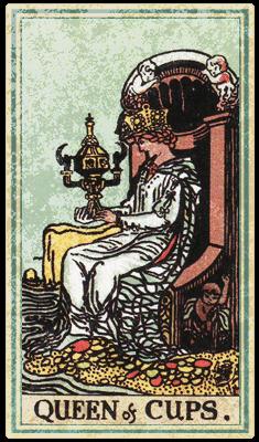 Таро Уэйта, Королева Кубков