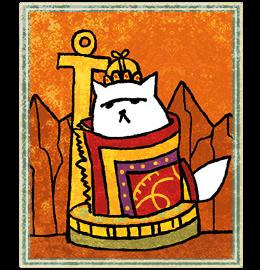 Neko Atsume Tarot - Император ( The Emperor)