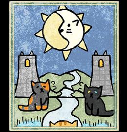 Neko Atsume Tarot - Луна (The Moon)