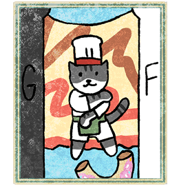 Neko Atsume Tarot - Жрица (The High Pristess)