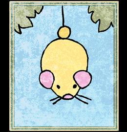Neko Atsume Tarot - Повешенный (The Hanged Mouse)