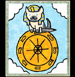 Neko Atsume Tarot - Колесо Фортуны ( The Wheel of Fortune)