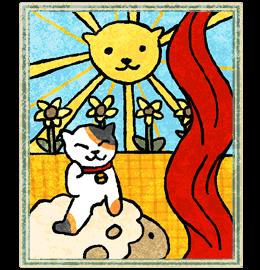 Neko Atsume Tarot - Солнце (The Sun)